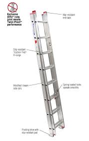 home depot ladders black friday werner 16 ft aluminum extension ladder with 200 lb load capacity
