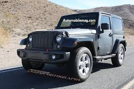 wrangler jeep 2 door 2018 jeep wrangler prototype spied with body suspension modifications