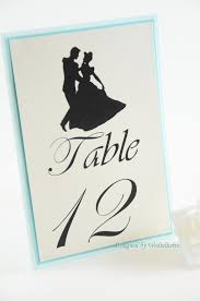 themed table numbers cinderella table numbers disney theme weddings fairy tale