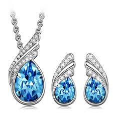 earrings necklace images Qianse ocean rhapsody stud earrings pendant necklace jewelry set jpg