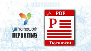 membuat web yii yii reporting membuat laporan pdf dengan yii harviacode