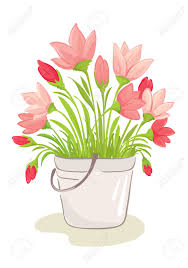 Clipart Vase Of Flowers A Bouquet Of Pink Flowers Royalty Free Cliparts Vectors And