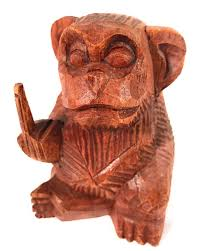 Bad Monkey Rude Monkey Carved 4 5