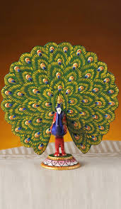 peacocks home decor showpieces idols hand painted peacock decorative with