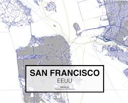 San Francisco Topographic Map by Download San Francisco Dwg Mapacad