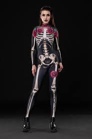catsuit halloween costumes skeleton glam halloween costume full body skeleton