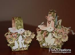 Easter Basket Table Decorations by Creations By Saz Easter Table Decorations As You Can See I Am