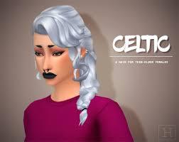 sims 4 maxis match cc hair sims 4 maxis match cc dump habsims celtic side braid heyyyy