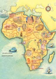 Map Of Ancient Africa by Trust For African Rock Art Prehistoric African Paintings And
