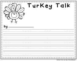 thanksgiving printable writing pages festival collections