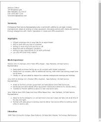 Free Sample Resume For Customer Service Representative Professional Field Service Representative Templates To Showcase