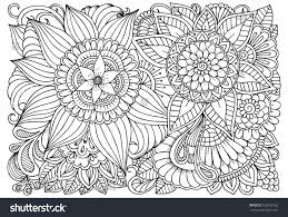doodle floral drawing art therapy coloring stock vector 533833162