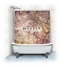 Map Home Decor Colonial Possessions Map Shower Curtain Vintage Colonial Map