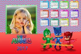 fotomontaje de calendario 2015 minions con foto hacer fotomontaje de calendario 2017 pj masks o héroes en pijamas