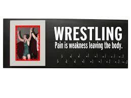 wrestling etsy wrestling medal hanger display gifts holder
