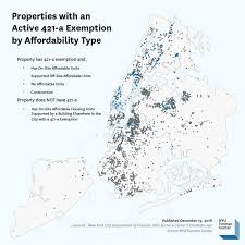 nyc tax maps mapping affordable housing supported by the 421 a tax exemption