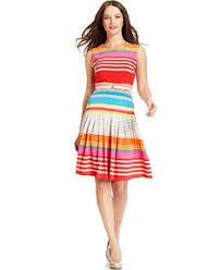 calvin klein dress sleeveless seamed colorblocked a line