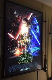 4pcs Home Theater Aluminum Slim Snap Lighted Up Movie Poster Frame