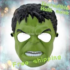 new arrival the incredible hulk mask carton design for halloween