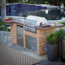 impressive outdoor kitchen islands with sink and stainless steel