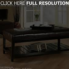 coffee table luxury leather with storage uk white ottomans square