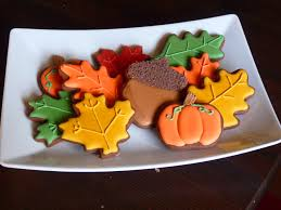 happy thanksgiving fall cookies
