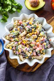 Creamy Pasta Salad Recipes by Creamy Tex Mex Pasta Salad Gimme Delicious