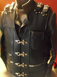 leather motorcycle vest patch vest handmade motorcycle vest genuine leather 1 6mm black