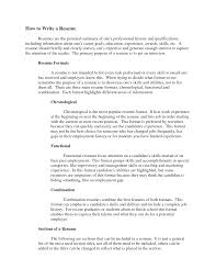 sample of combination resume writing a resume examples free sample