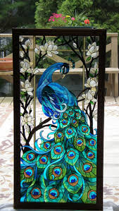 117 best stained glass peacock images on pinterest stained glass