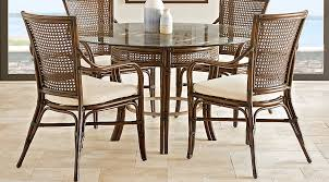 tropical dining room furniture tropical shore brown 5 pc dining set dining room sets dark wood