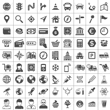 universal icon set 81 icons transport business financial