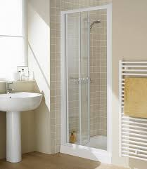 bifold shower door frameless 800mm semi frameless bi fold shower door white