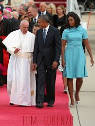 does michelle obama wear hair pieces michelle obama greets pope francis in carolina herrera tom lorenzo