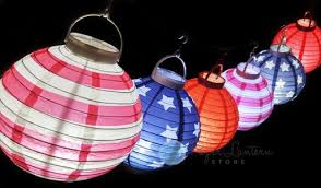 led lights for paper lanterns patriotic 4th of july stars and stripes led battery operated paper
