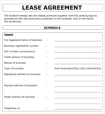 commercial truck lease agreement lease agreement sample sop