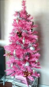 pastel pink shape tree ornaments