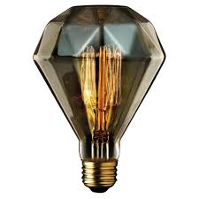 light bulb old style globe electric 40w amber designer vintage edison diamante