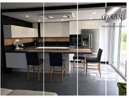 meuble cuisine laqué cuisine laque grise affordable cuisine laque grise avec plan de