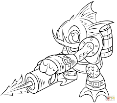 skylanders gill coloring page free printable coloring pages