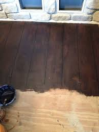 painted faux hardwoods onto underlayment hometalk