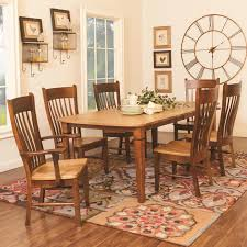 Amish Dining Room Set Amish Dining Table With Leaves Farmhouse Kitchen Sets Custom Made