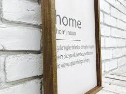 home noun farmhouse home decor sign wood madi kay designs