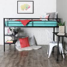 Bunk Beds  Twin Over Twin Wood Bunk Beds Loft Bed Desk Combo - Metal bunk bed with desk