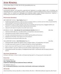 cool paraprofessional resume 5 paraprofessional cover letter