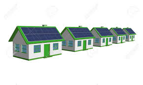 eco friendly houses 3d render single family detached housing