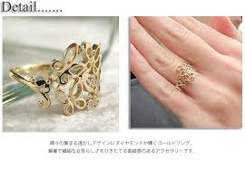 gold rings stones images Own p feminine elegant k10 yellow gold ring k10yg butterfly jpg