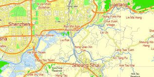 printable maps hong kong hong kong china printable vector street g view level 12 5 km