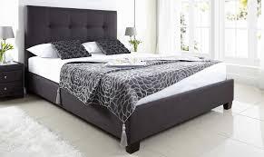 Ottoman Divan Nicola Grey Fabric Ottoman Bed L Fishpools