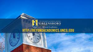 beyond academics at uncg youtube